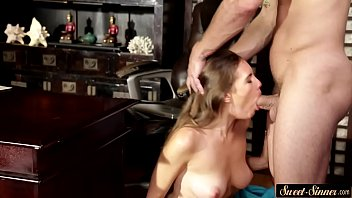 cock daughter fathers blows her Mom son play together