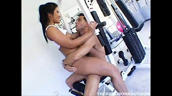chicks5 gropes hot personal trainer jap two Leather glove wank