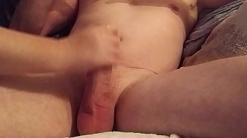 handjob with cumshot intense Sexy golden haired fucked really